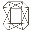 diamond, diamond cut, faceted stone, jewellry, ring, standard barrel-shape icon