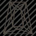 dimond cut, gemstone, jewellry, step-cut, trapezium step-cut icon