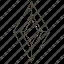 diamond cut, faceted stone, gems, gemstone, jewellry, rhombus step-cut icon