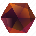 autumn, fall, hexagon, la, lunar, orange, purple icon