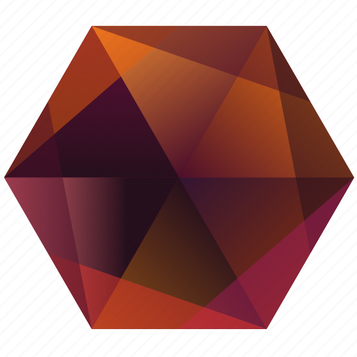 autumn, fall, hexagon, la, lunar, orange, purple icon