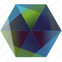 base, blue, green, hexagon, ocean, skype icon