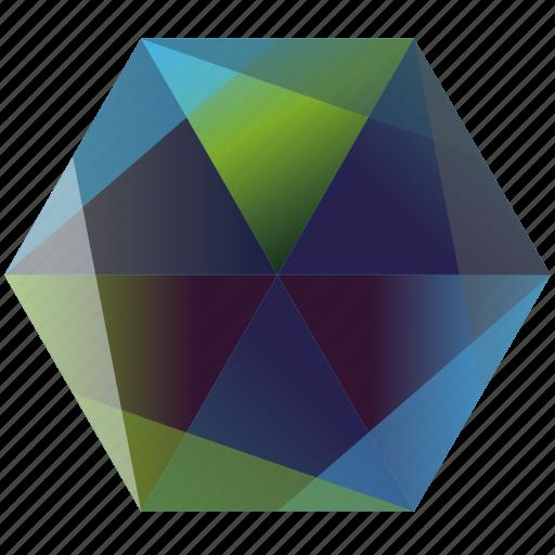 base, blue, green, hexagon, ocean, skype icon