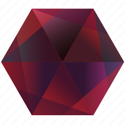 base, gem, hexagon, pink, purple, red, ruby icon