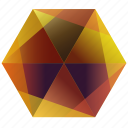 autumn, fall, hexagon, orange, purple, snapchat, yellow icon