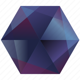 base, blue, facebook, hexagon, media, purple, social icon