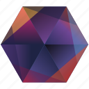 base, gradient, hexagon, instagram, orange, photo, purple icon