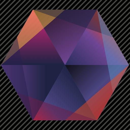 base, gradient, hexagon, instagram, orange, photo, purple icon