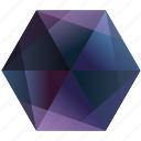 blue, la, purple, tumblr, lunar, hexagon, gem icon