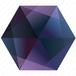 blue, gem, hexagon, la, lunar, purple, tumblr icon