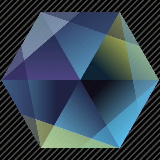 bird, hexagon, ocean, sea, twitter icon