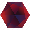 base, blue, hexagon, play, red, youtube icon