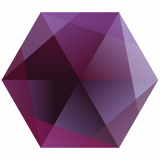 base, gem, hexagon, pink, purple icon