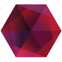 pink, purple, base, lunar, hexagon, ruby, red icon