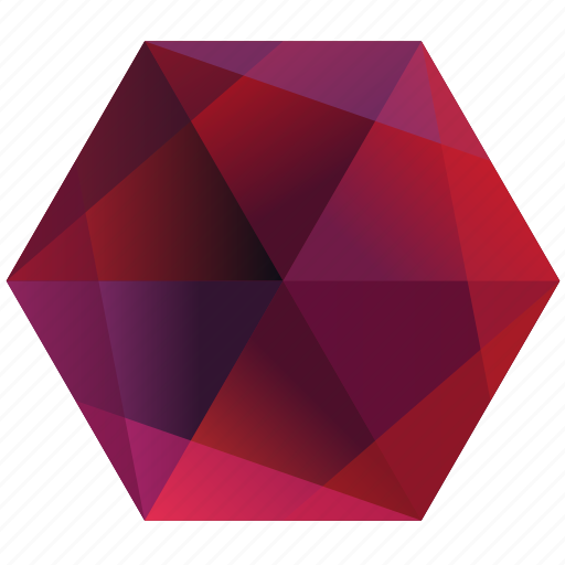 base, hexagon, lunar, pink, purple, red, ruby icon