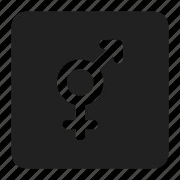 arrow, bigender, gender, genderqueer, relationship, sign, symbols icon