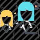 employee, group, leader, woman, work