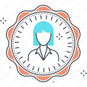 avatar, employee, female, girl, woman