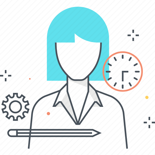 avatar, employee, female, woman, worker icon