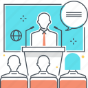 conference, education, lesson, training, tutorial icon