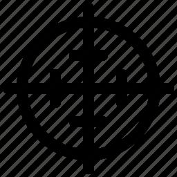 aim, bullseye, focus, goal, target, targeting, watchkit icon