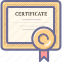 certificate, copyright, license icon