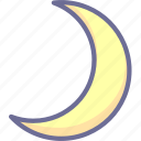 moon, night, sleep icon