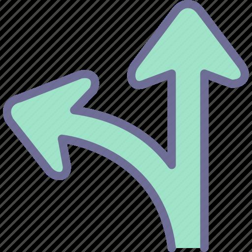 direction, path, way icon