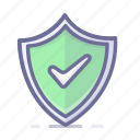 allow, safety, security, shield icon