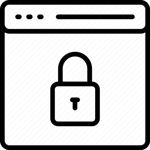 browser, internet, lock, protected, safe, secure, web icon icon