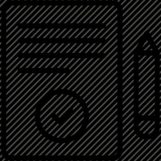 contract, document, edit, paper, pen, pencil, write icon icon