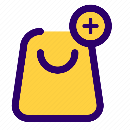 add, bag, basket, cart, shopping, to icon