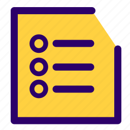 document list, list, lists, modules, notes icon