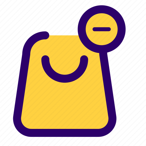 cart, item, remove, shoppin bag, shopping, shopping items icon