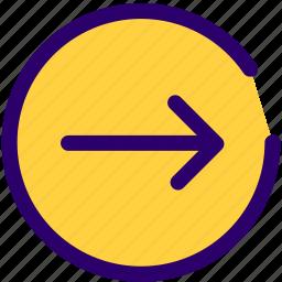 arrow, right, right tick, slider, website icon