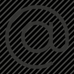 account, domain icon