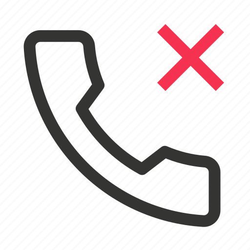 call, contact, mobile, phone, reject, telephone icon