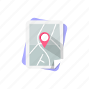 direction, gps, location, map, navigation, pin, place icon
