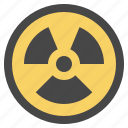 chemical, contamination, hazard, hazardous, nuclear, pollution, radiactive icon