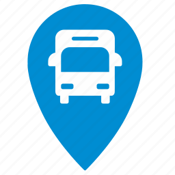 bus, geo, location, map, point, traffic, transport icon