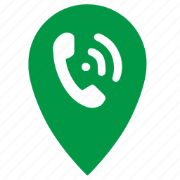 call, communication, geo, mobile, phone, point, smartphone icon