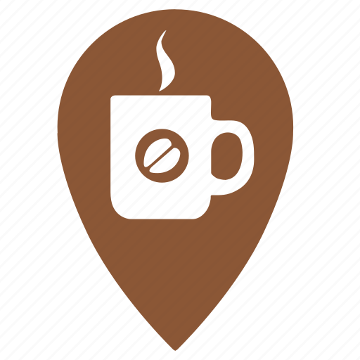 cafe, coffee, drink, evening, geo, point, shop icon