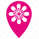 flower, flowers, geo, point, shop icon