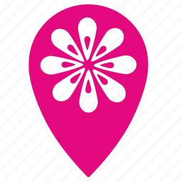 flower, flowers, geo, point, shop icon