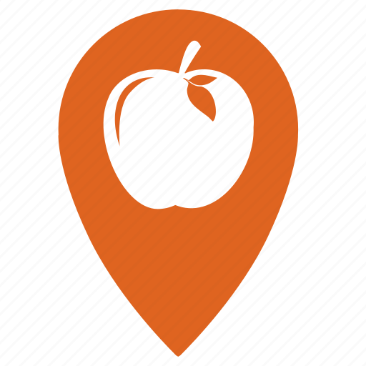 apple, food, fruit, fruits, point, shop icon
