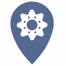 gears, geo, point, settings, shop icon