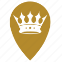 castle, geo, gold, point, queen, winner icon