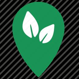 geo, herbal, leaf, point, shop, store, tea icon
