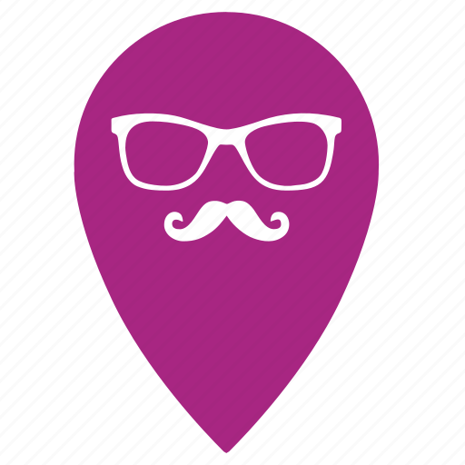 geo, hipster, location, map, party, point, pointer icon
