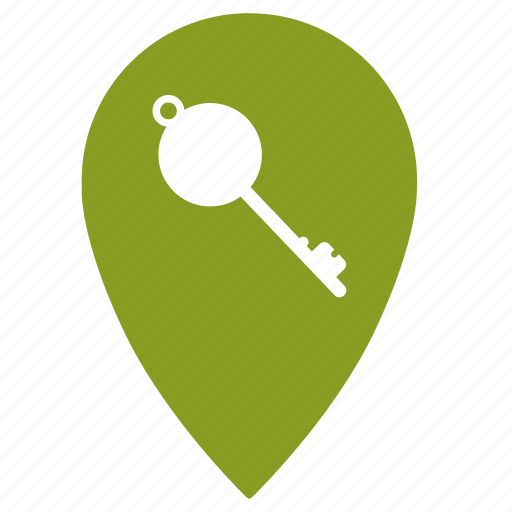 gps, hotel, key, location, map, navigation, point icon